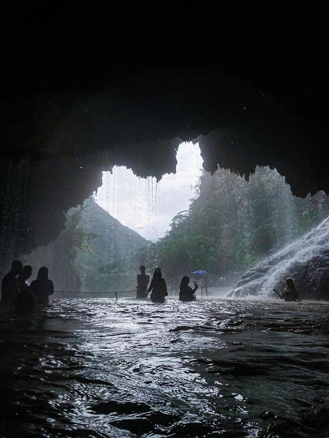 Inside a cave at Las Grutas de Tolantongo