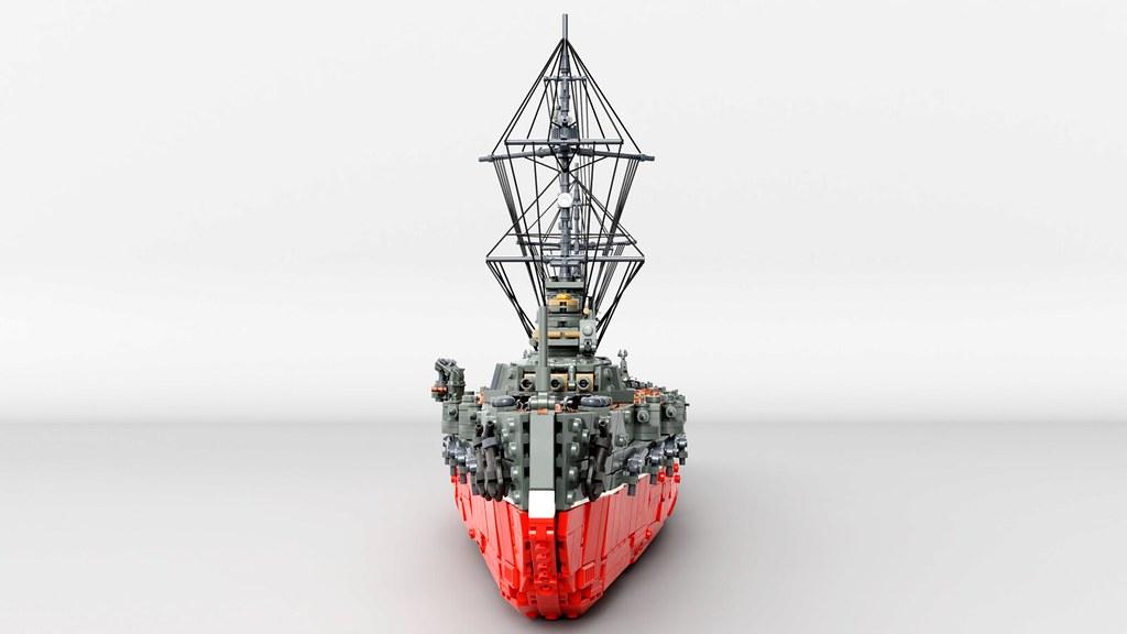 Gangut battleship bow view.
