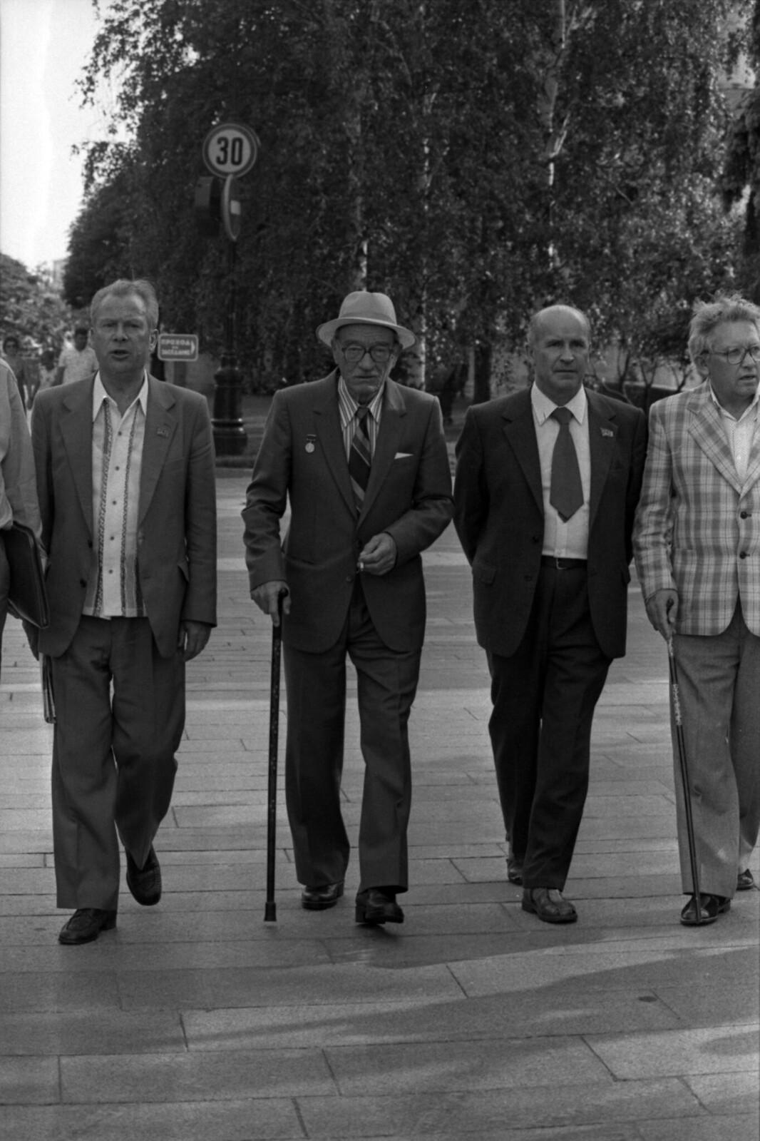 1988. Новгород, Гавриил Троепольский на празднике славянской письменности.