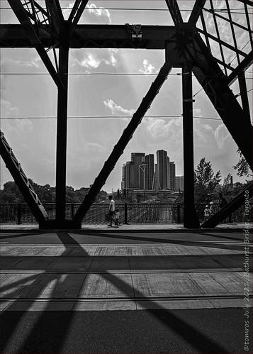 2021 architecture bw blackandwhite bridge bathurstbridge bathurststreet connection culture july libertyvillage living people monochrome shadows streetphotography tomros ©tomros tomros69 toronto travel two urban urbanexploration p1520410
