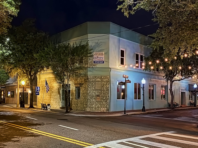 23 E Tarpon Avenue, Tarpon Springs, Florida, USA / Built: 1904 / Floors: 2 / Exterior Wall: Concrete Block/Stucco / Interior Finish: Dry Wall / Foundation: Spread/Mono Footing / Roof Frame: Flat / Roof Cover: Built Up Wood