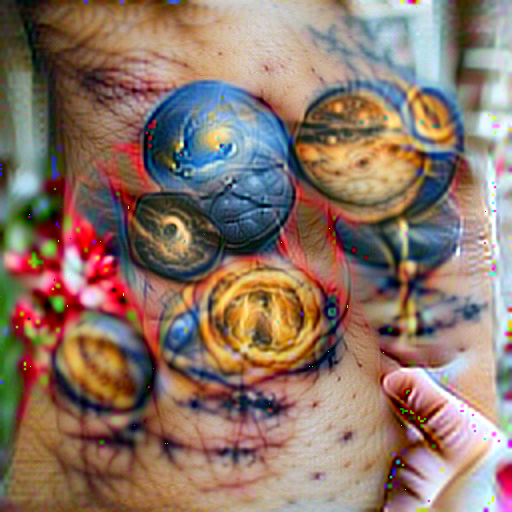 'a tattoo of planets' CLIPRGB