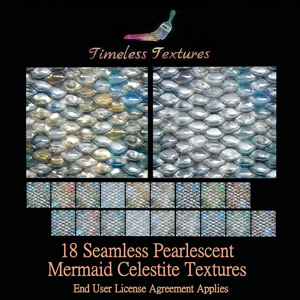 TT 18 Seamless Pearlescent Mermaid Celestite Timeless Textures