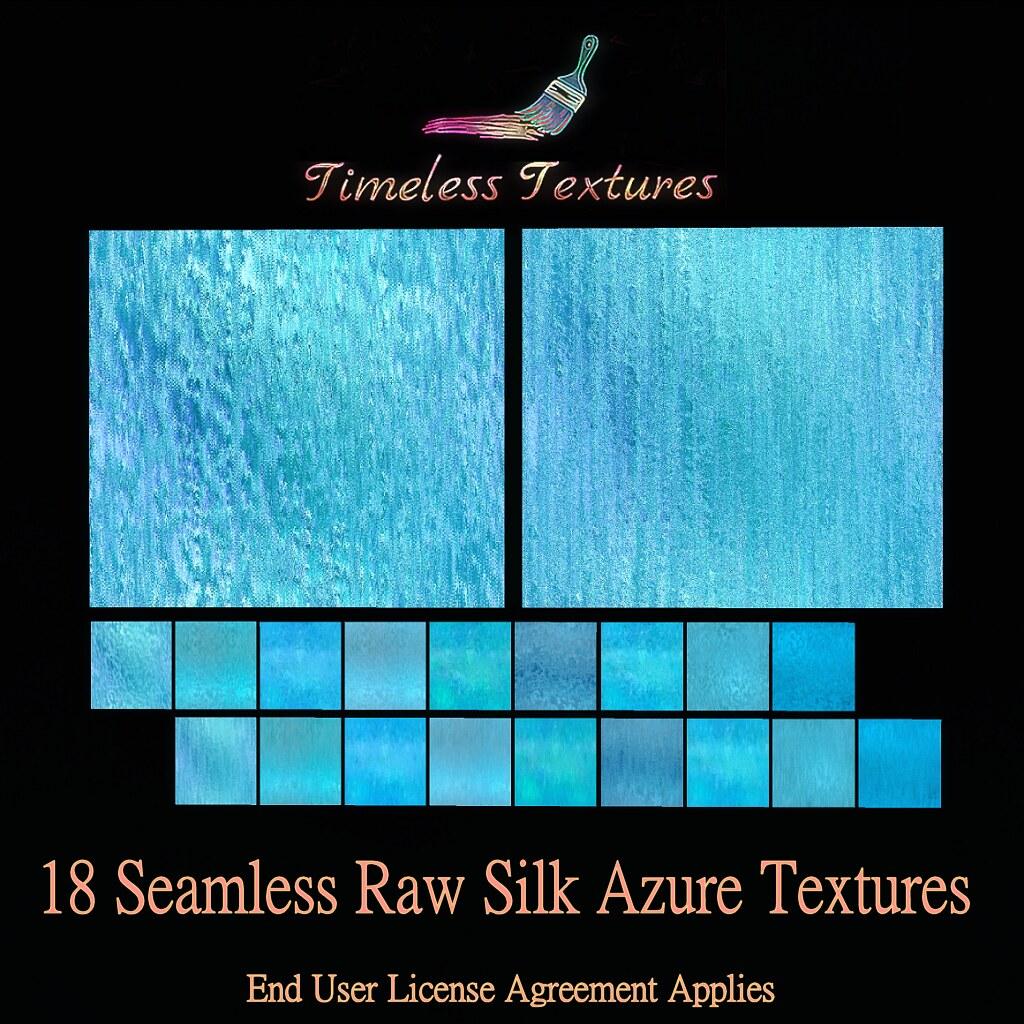 TT 18 Seamless Raw Silk Azure Timeless Textures
