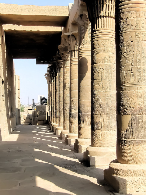 Philae Colonnade Light and Shadow DSCF3223