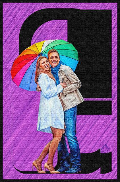 Fun under the umbrella