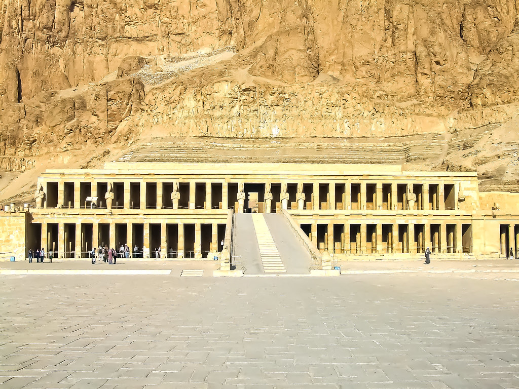 Mortuary Temple of Hatshepsut Ramp and colonnades 3
