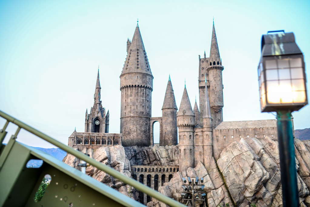 Hogwarts from Flight of Hippogriff