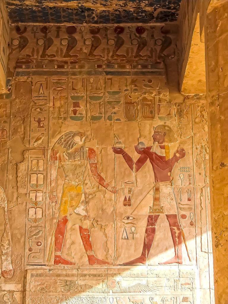 Mortuary Temple of Hatshepsut Frescoes 2