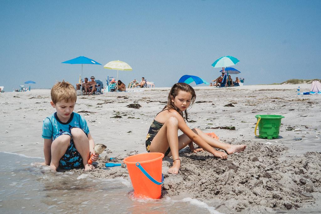 Logan and Ryan at the beach