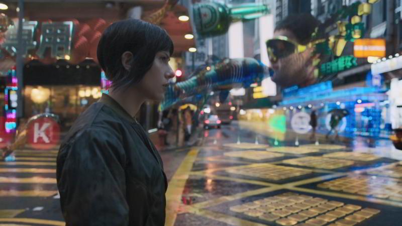 Scarlett Johansson in Hong Kong