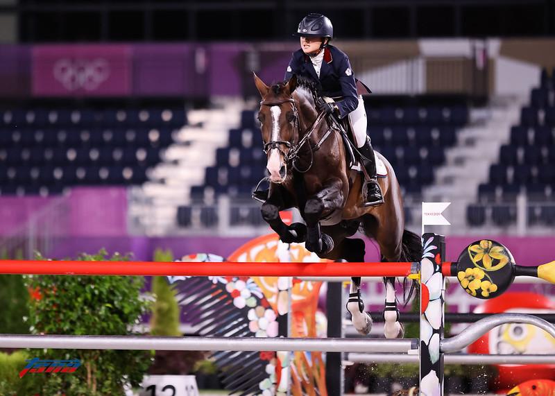 陳少曼首度參加奧運馬術賽,但在資格賽就止步。(特約攝影侯禕縉/東京現場拍攝)