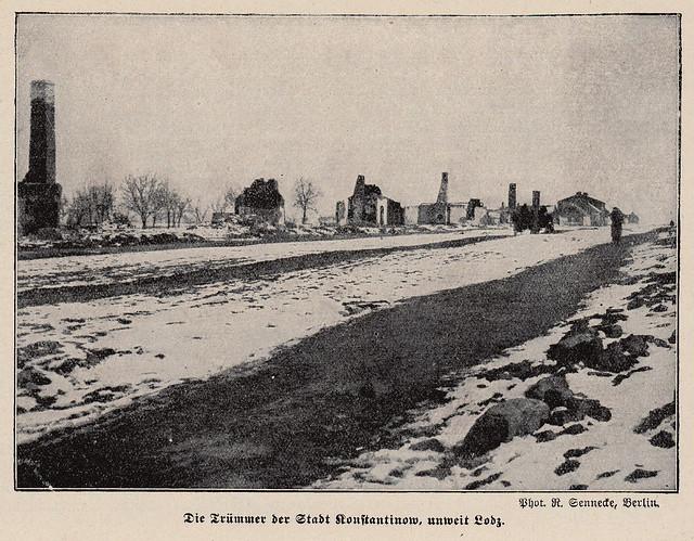 Devastation in Konstantynów Łódzki Poland 1915