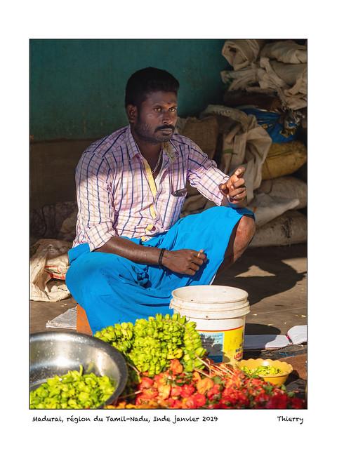 Madurai, région du Tamil-Nadu, Inde janvier 2019