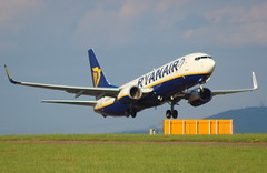 Ryanair EI-DYV Boeing 737-8AS flight FR 5986 departure from Teesside International Airport MME England UK bound for Alicante ALC Spain