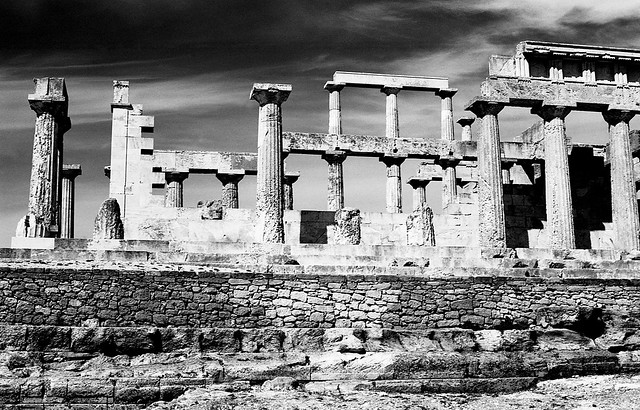 Temple of Aphaia (Ναός Αφαίας) ca. 500 BC, Aegina, Greece  March 1974