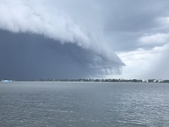 Shelf clouds,storm moving in