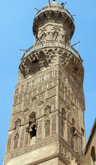 Cairo Complex of al-Nasir Muhammad 1294-1304 Mamluk Minaret 1304 Stucco & Octagonal 2nd Story 15th cent Inal (3)