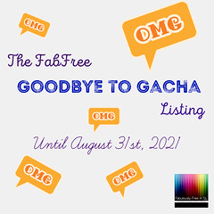 The FabFree Goodbye to Gacha Listing