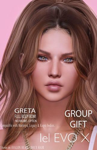 AUGUST GROUP GIFT, GRETA SKIN LELUTKA EVO X