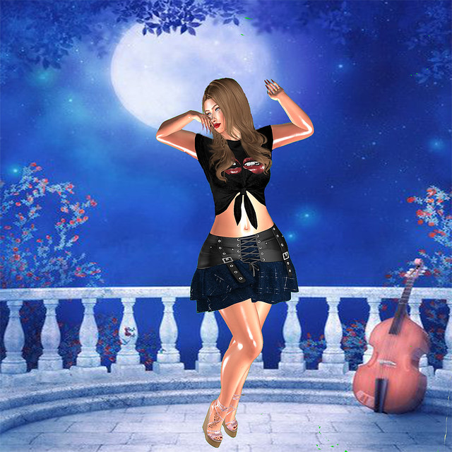 .:YASU:. Pack13 -  Jeans Skirt with Belts - Maitreya