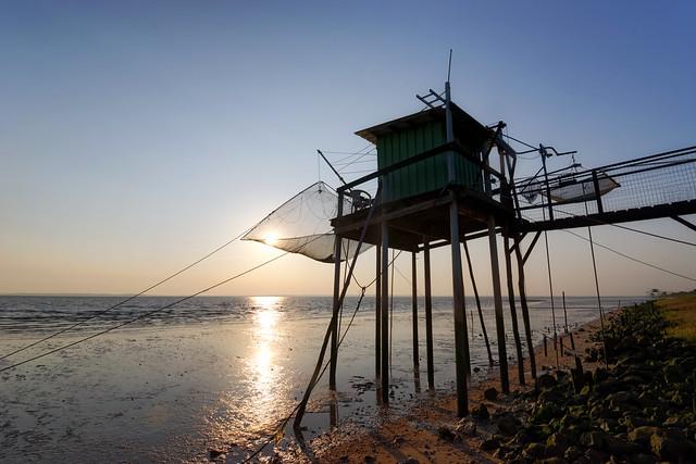 Carrelet fishing hut