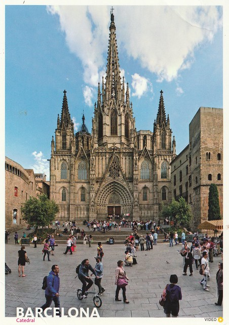 Spain - Barcelona (The Cathedral of the Holy Cross and Saint Eulalia)
