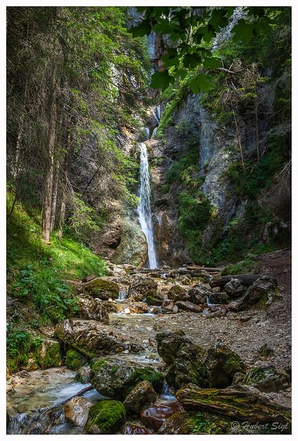 Shady waterfall