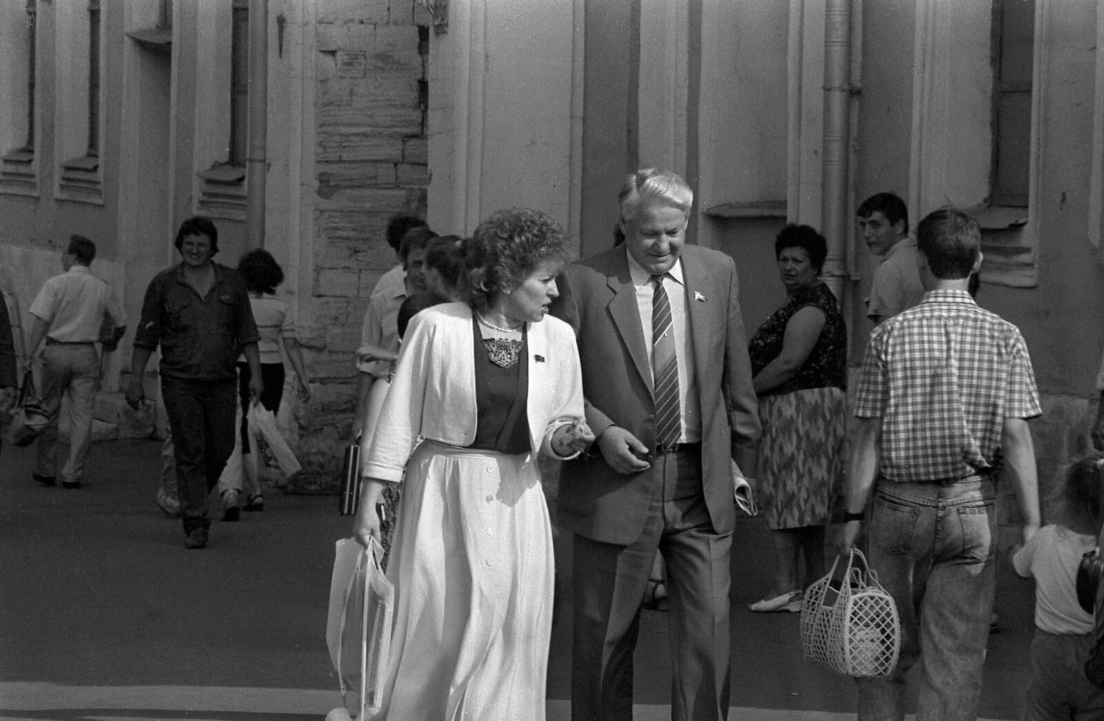 1989. Валентина Матвиенко и Борис Ельцин