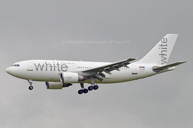 White Airways CS-TQV Airbus A310-304 cn/494 wfu 9 May 2016 std at LDE 17 May 2016 Broken up 2017 at LDE @ LFPO / ORY 02-05-2015