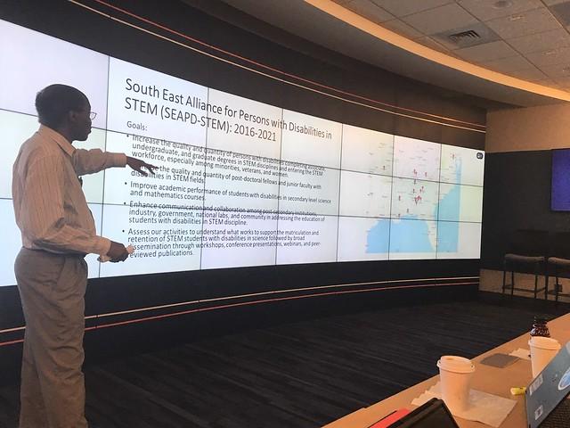 Overtoun Jenda giving a presentation.