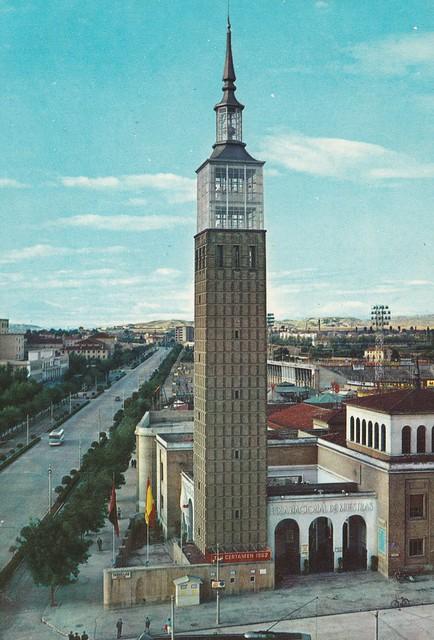 Spain - Aragon - Saragossa (Samples Fair Tower and Izabella Catolica Avenue)