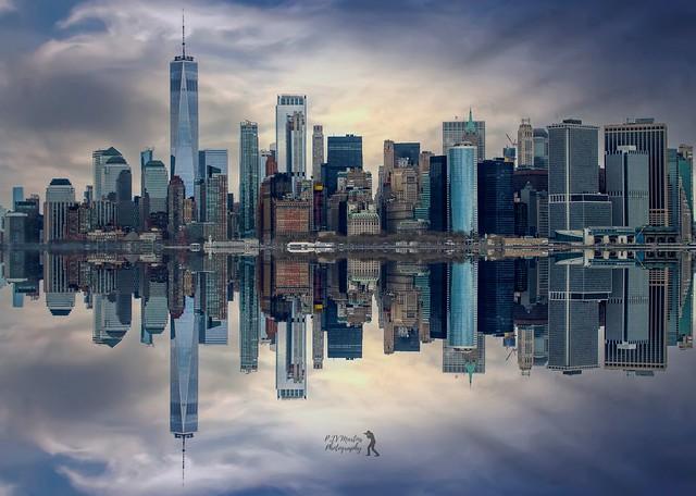 Manhattan Skyline Reflection