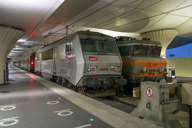 SNCF BB 26078 + BB 7294 Gare d'Austerlitz