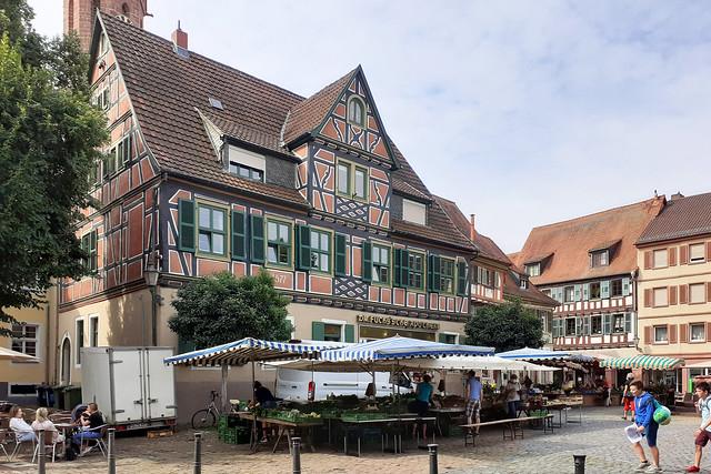 Frühstück im Freien --- Kaffeehaus Ladenburg --- Brigitte Stolle