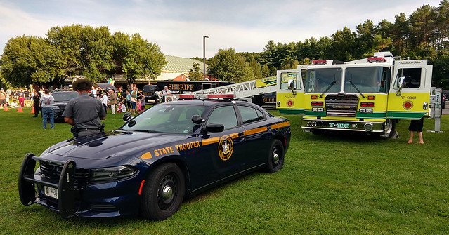 New York State Police 2G38 and Clifton Park Halfmoon FD Truck 19-6