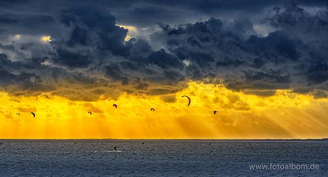 Kiten in der Nordsee