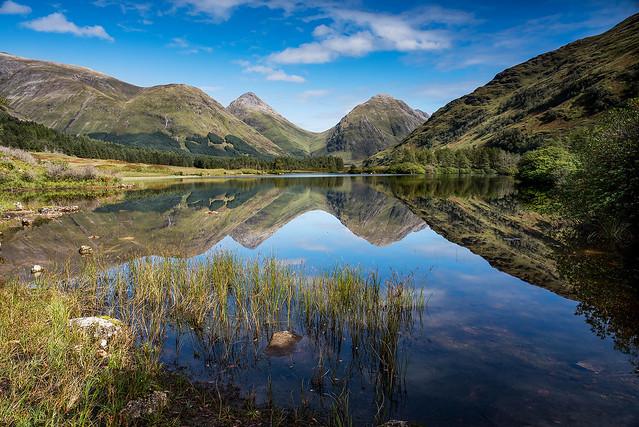 Lochen Urr in Glen Etive.   Scotland.