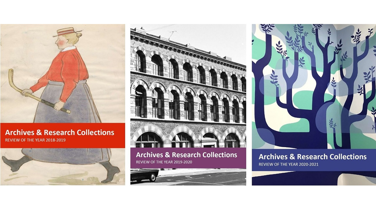 Archives & Research Collections annual review covers