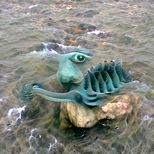 'a surrealist sculpture of a sea monster' Zoetrope 5 Text-to-Image