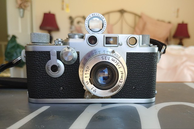 1954 Leica IIIf RD with 1949 Leitz Elmar and Leitz 5cm SBOOI Brightline Viewfinder