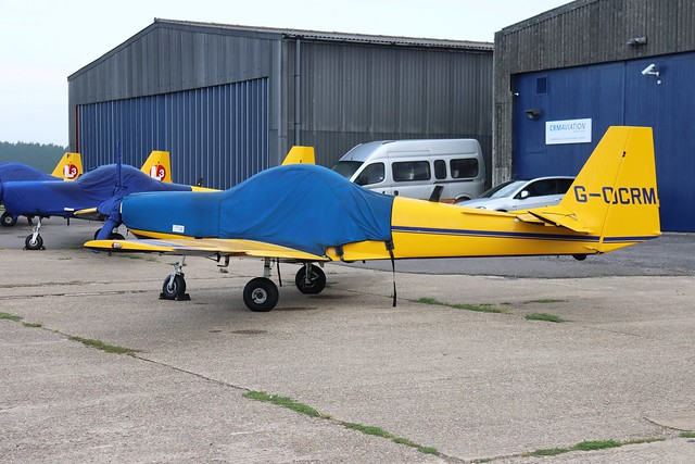 G-OCRM CRM Aviation Slingsby T-67M Firefly Mk2 at White Waltham Airfield Berkshire (EGLM)