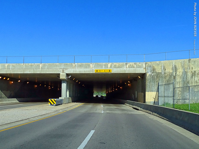 Approaching Beech Factory Airport Tunnel along Central Ave, 4 June 2021