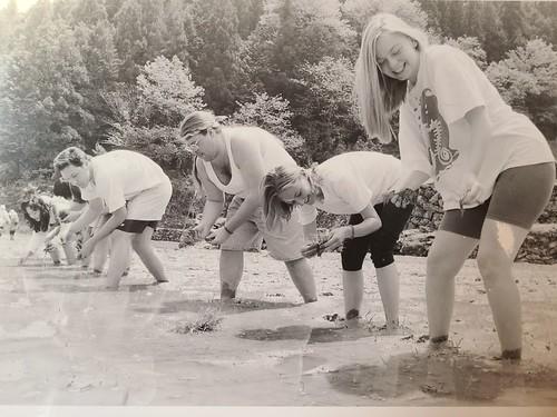 Planting rice Ehime 1996