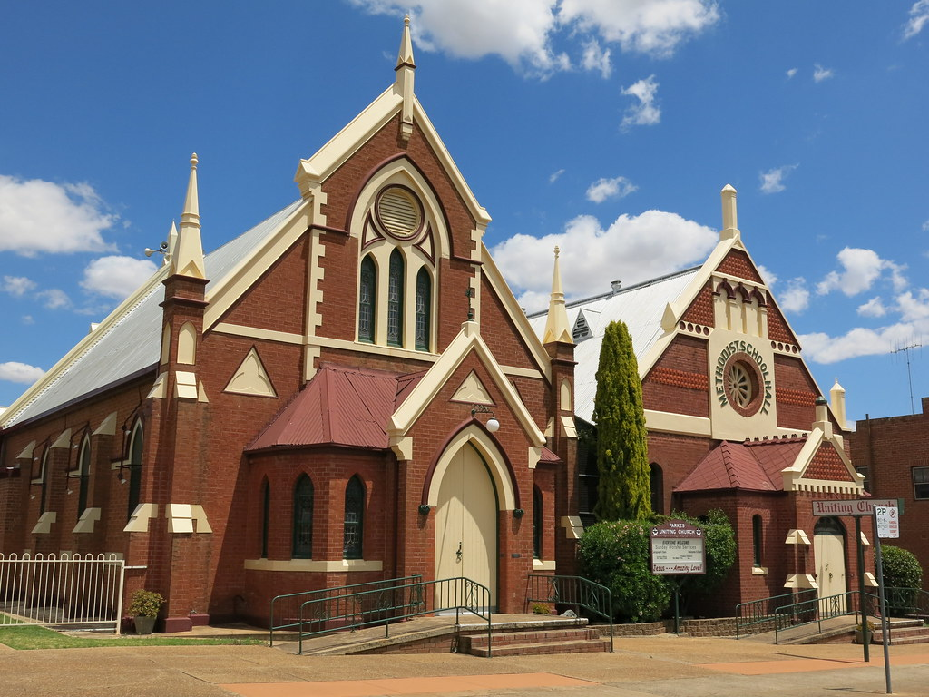 Uniting Church and Hall, Parkes, NSW, 1897 and 1912