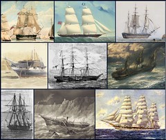 Some of the British ships mentioned in Cookesley's letters of 1854