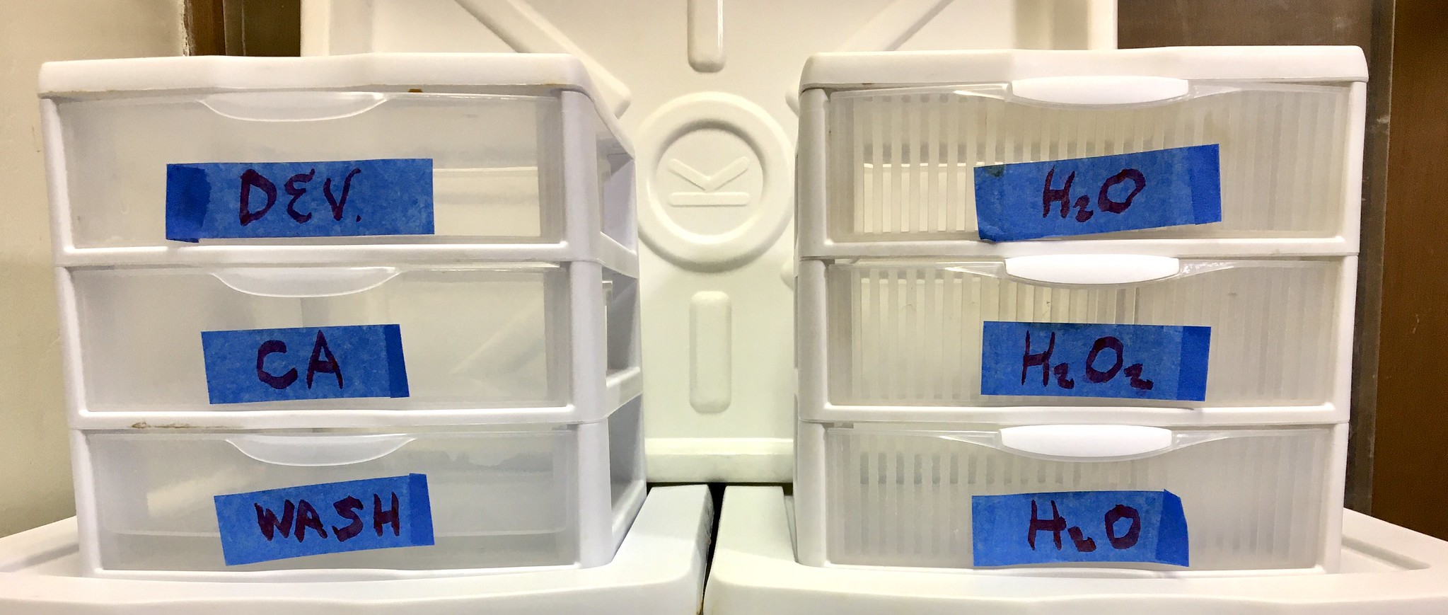 3-Drawer Cube Stack Processing Trays