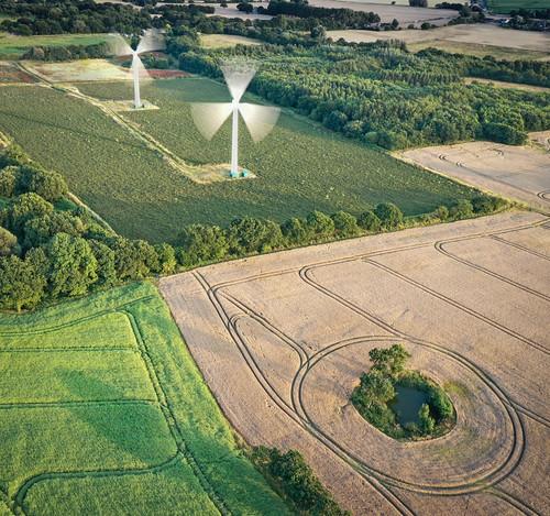 field wind turbine le longexposure aerialphotography drone uav dji mavic2pro lines birdseyeview