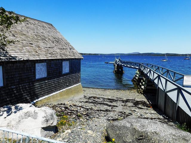 Hancock Harbor: Boathouse and Pier
