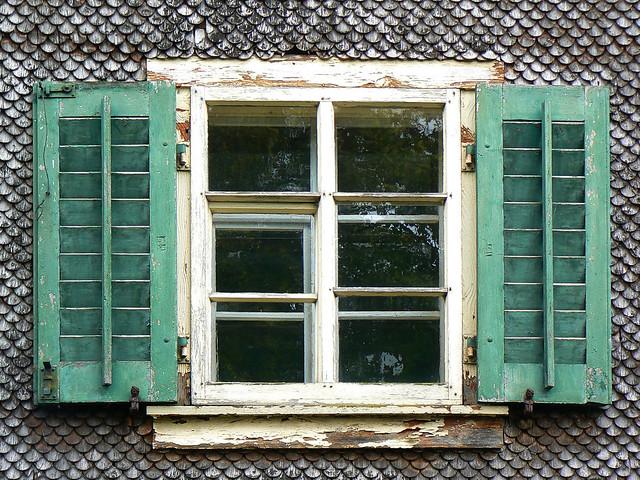 Weathered Wood Wall & Window